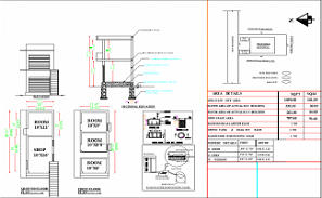 10'X 29' small shop building Blueprint floor plan is given in this AutoCAD DWG file. Download 2D Autocad Drawing DWG and PDF file.