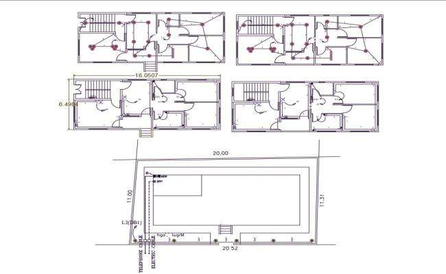 1100 Sq Feet House Plan Design AutoCAD File