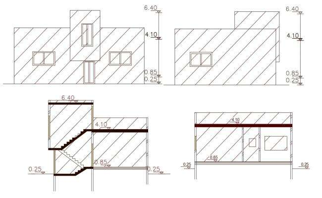 120 Square Yards House Building Design DWG File