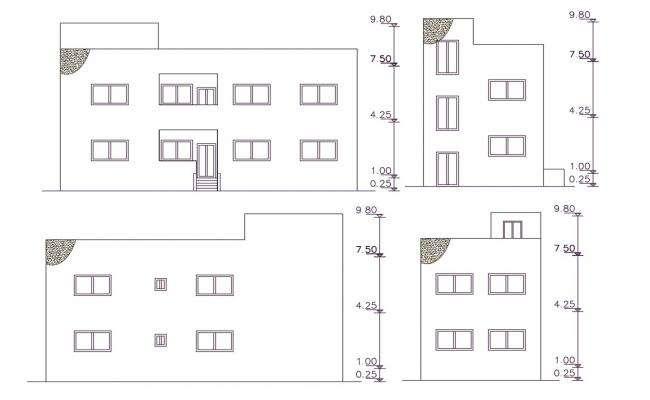 121 Square Yards House Building Elevation Design