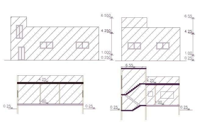 1260 Sq Ft House Building Design DWG File