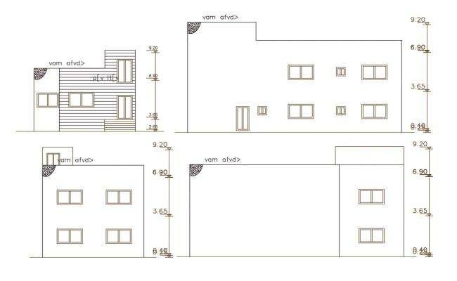 140 Square Yard House Building Elevation Design