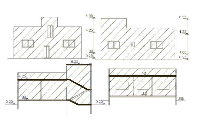 1440 Square Feet House Building Design DWG File