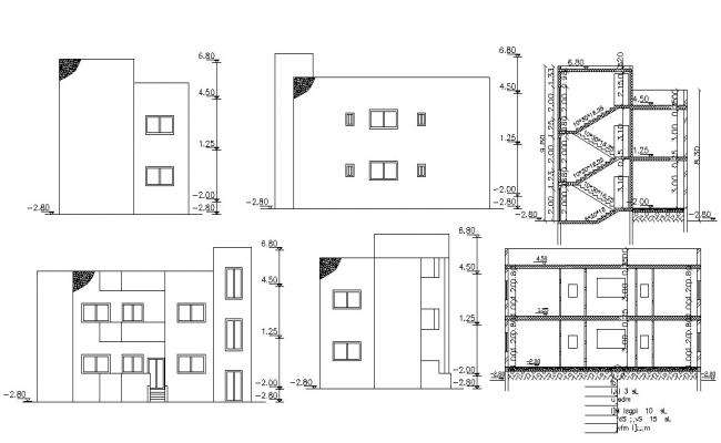 1500 Square Feet House Building Design AutoCAD File