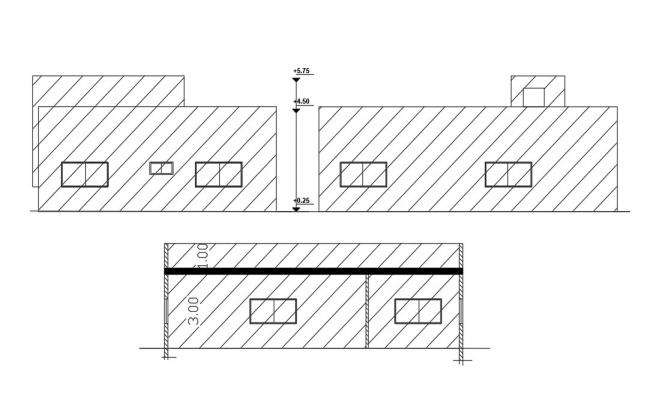 168 Square Yards House Building Design DWG File