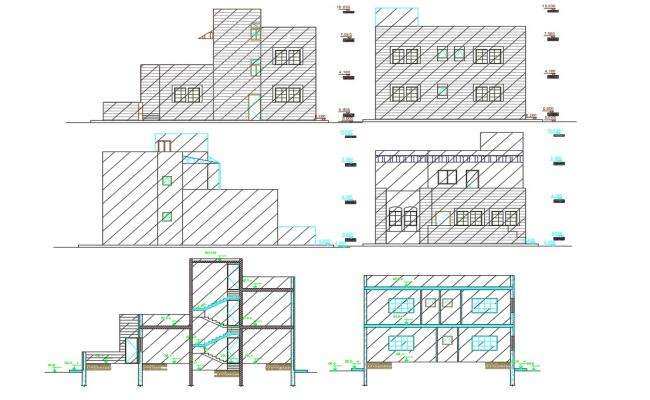 1800 Sq Ft House Building Design AutoCAD File