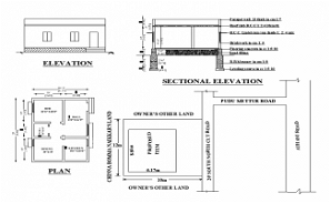 20'X 29' single bhk East facing small House Plan As Per Vastu Shastra. Download Autocad Drawing DWG and PDF file.