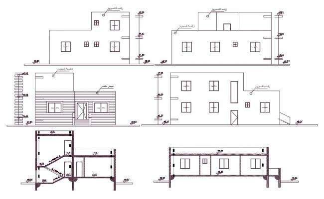 2200 Square Feet House Building Design AutoCAD File