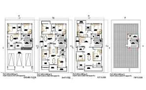 2400 Square Feet 2 BHK Apartment House With Furniture Layout Plan Drawing DWG File