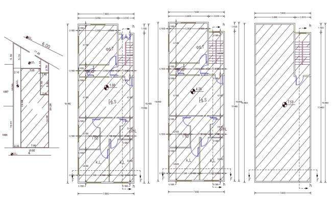 25' X 50' House Plan AutoCAD File