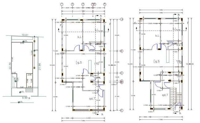 25' X 55' House Plan AutoCAD File(140 Square Yards)