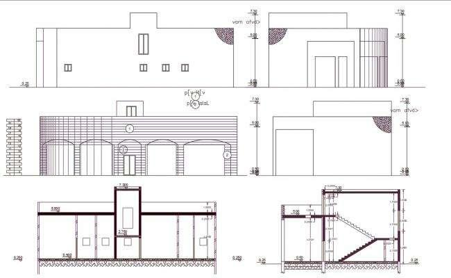 2600 Square Feet Commercial Building Design AutoCAD File