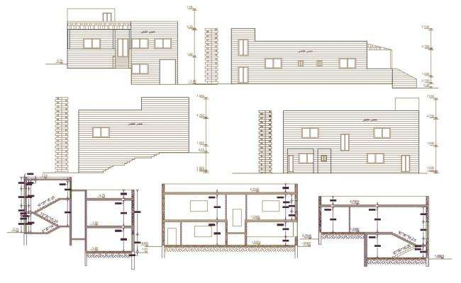 2600 Square Feet House Building Design DWG File