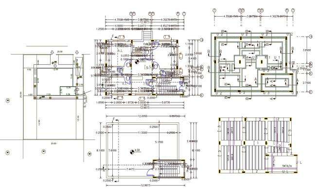 26' X 40' House Plan DWG File (115 Square Yards)