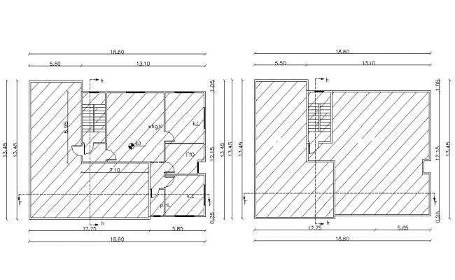 2700 Square Feet Apartment Layout AutoCAD Plan