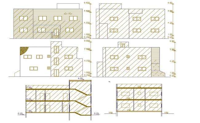 275 Square Yards House Building Design DWG File