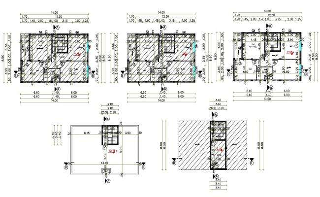 27' X 45' Architecture House Plan Design DWG File