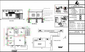 28'X29' blueprint plan of East facing 2bhk house plan as per Vastu Shastra is given in this drawing file. Download free Autocad DWG and PDF file format of this house plan.