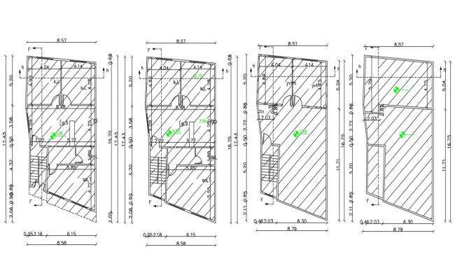 28 X 57 Feet Family House Plan AutoCAD Drawing
