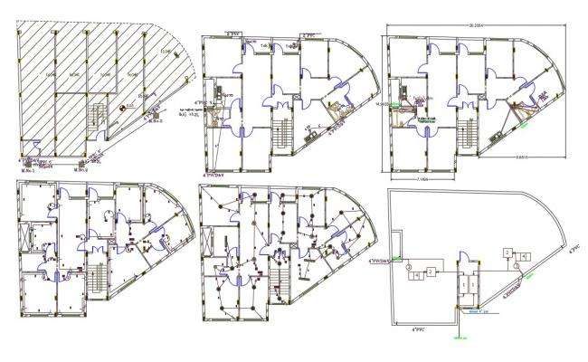 2 BHK Apartment With Shop Floor Plan Design DWG File