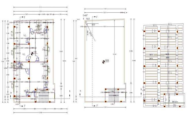 2 BHK House Plan With Slab Bar Structure Design