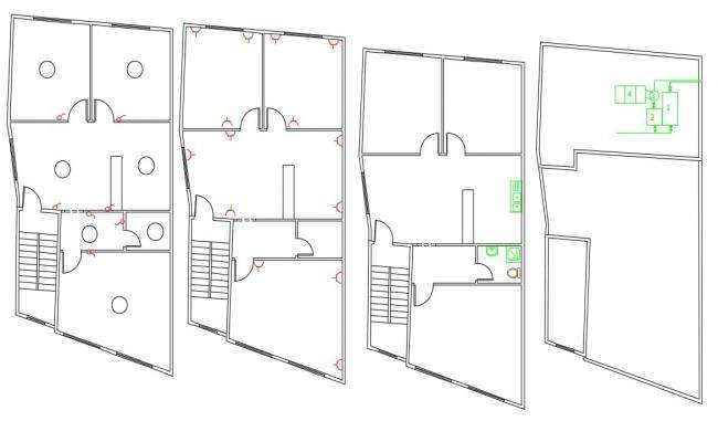 2 BHK House Wiring Plan And Sanitary Ware Design