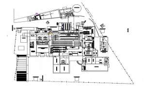 2D CAD DWG drawing file shows plan of water plant and full plant process in detail of  the industry. Download this AutoCAD drawing file.
