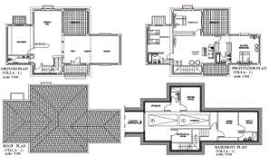 2 D Cad drawing file having the  villa floor plan.Download the AutoCAD 2D DWG file.