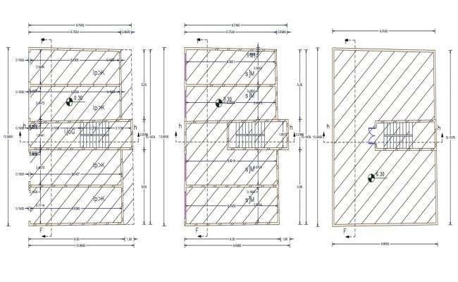 2D Commercial Shop Building Floor Plan CAD Drawing