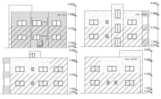 2 Storey House Building Elevation Design