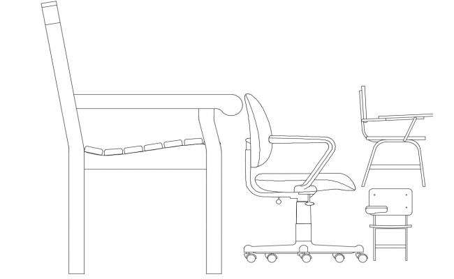Wheel chair top view elevation cad block details dwg file ...