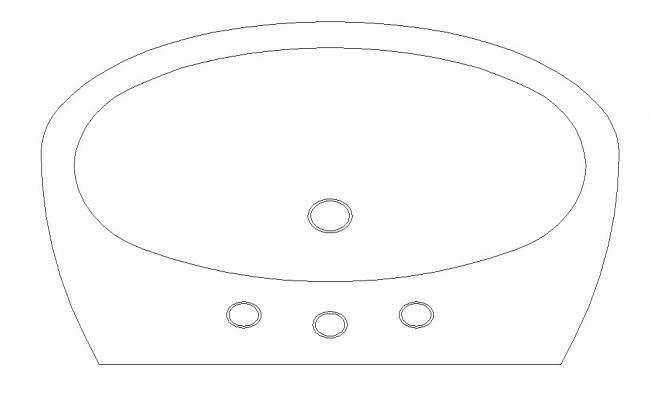 2d Sanitary Washbasin Design AutoCAD Block