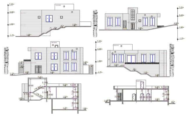 3000 Square Feet House Building Design DWG File