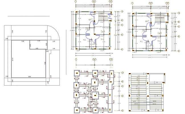 30' X 32' House Plan AutoCAD File (106 Square Yards)