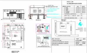 30'X 37' storehouse  Blueprint floor plan is given in this AutoCAD DWG file. Download 2D free Autocad Drawing DWG and PDF file.