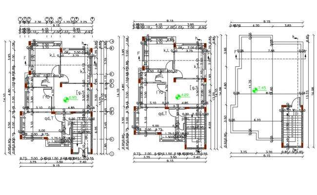 30' X 46' AutoCAD House Plan Design DWG File