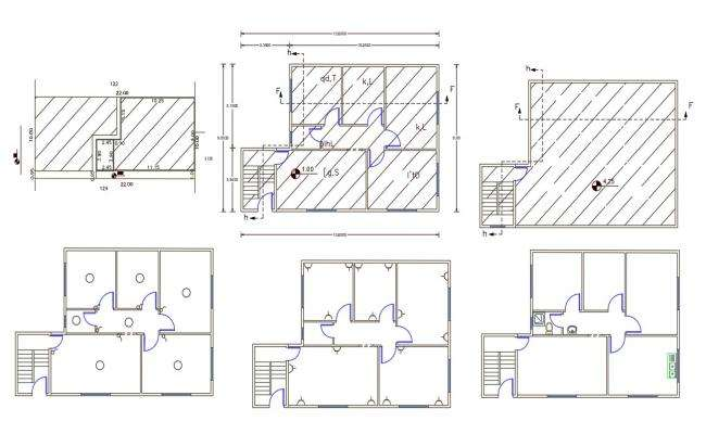 30' x 42' House Plan Design DWG File (135 Square Yards)