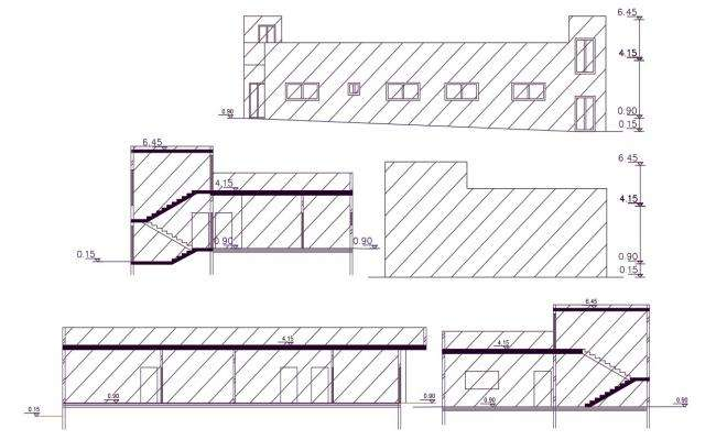320 Square Yards Duplex House Building Design DWG File