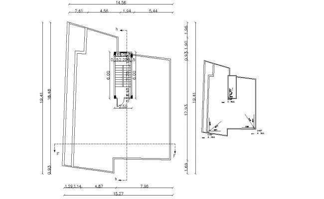3250 SQ Ft Apartment Terrace Layout Plan