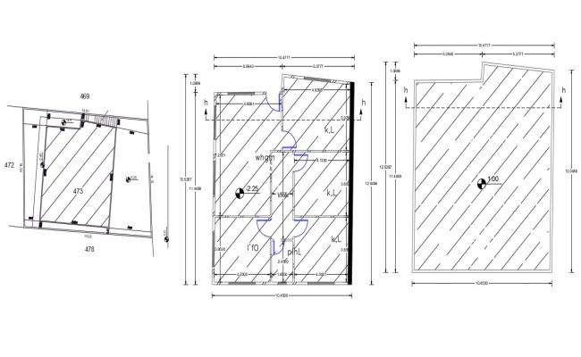 32 By 40 Feet 3 BHK House Plan Design DWG File