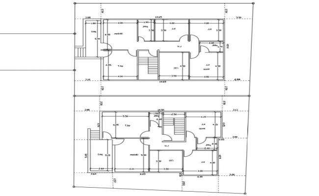 32' X 45' House Plan With 2 Different Option CAD Drawing