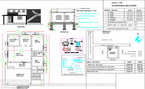 33'X52' blueprint plan of North facing 2bhk house plan as per Vastu Shastra is given in this drawing file. Download Autocad DWG and PDF file format of this house plan.