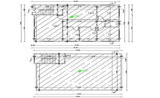 33' X 53' House Plan CAD Drawing DWG File