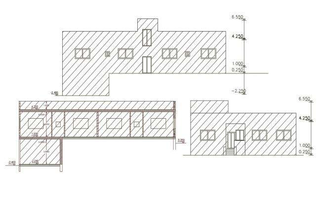 340 Square Yard House Building Design DWG File