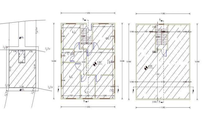 36' X 40' AutoCAD House Plan Design DWG File