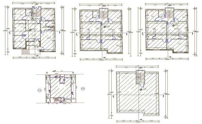 36' X 50' Feet Apartment Floor Plan AutoCAD File