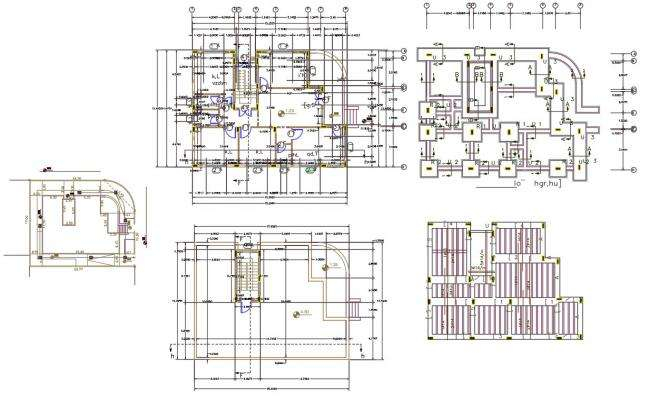 36' X 50' House Plan DWG File (120 square yards)