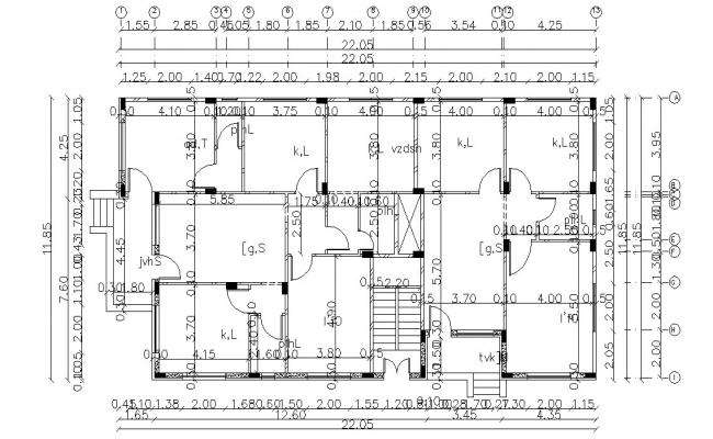 37 By 72 Residence House Plan Design DWG File