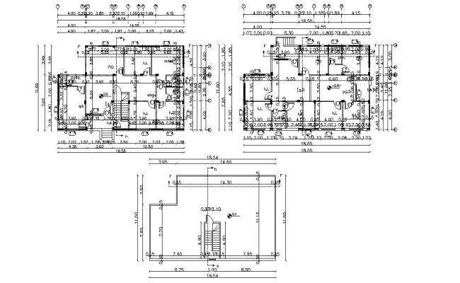 38' X 60' House Plan Design DWG File