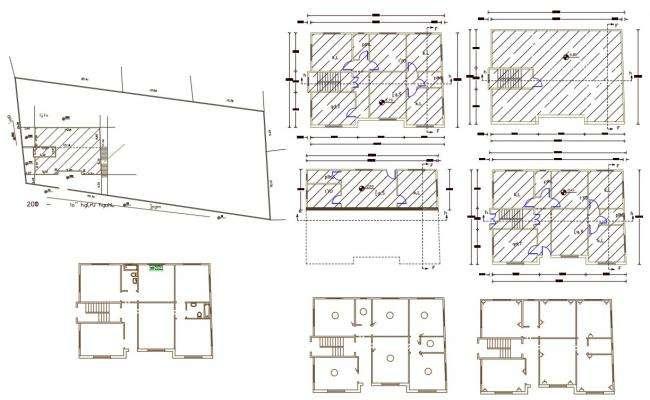 3 Bedrooms House Floor Plan Design DWG File